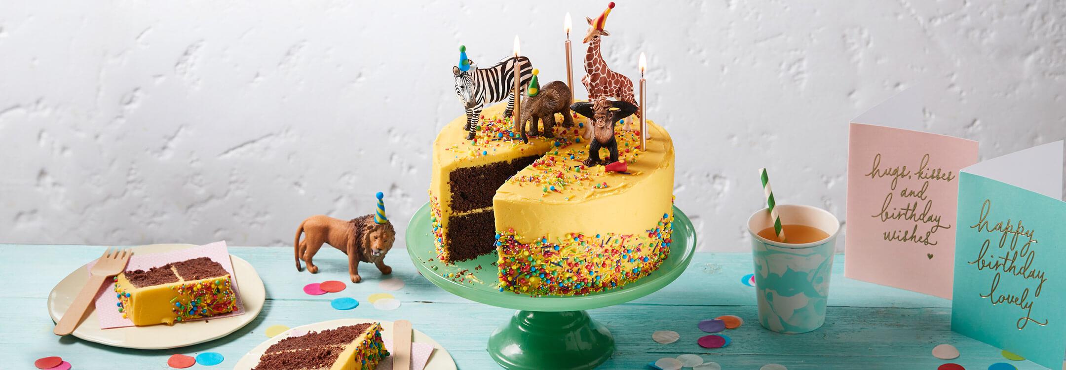 Astounding Jungle Birthday Cake Dr Oetker Funny Birthday Cards Online Inifodamsfinfo